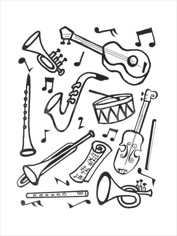 600x799 Music Drawings