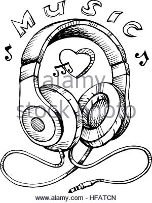 300x401 Drawing Stereo Radio Music Play Retro Stock Vector Art