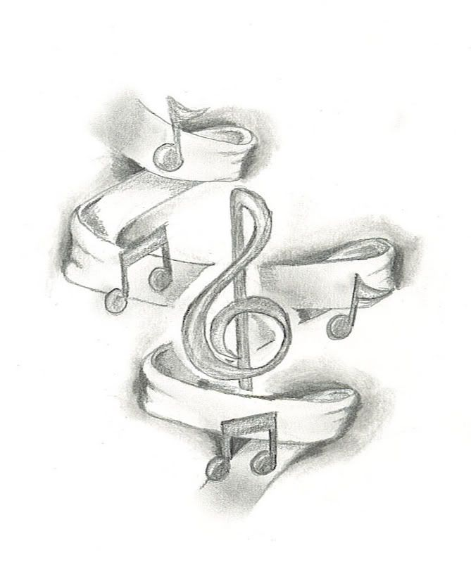 669x799 Drawings Of Music Drawing Of Music Notes Picture By France 073