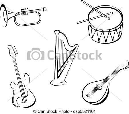 Music Instrument Drawing