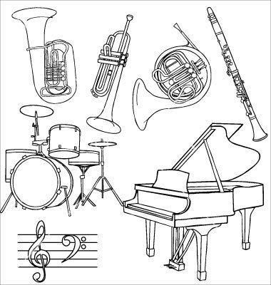 380x400 Jazz Music Instruments Vector Instruments Jazz