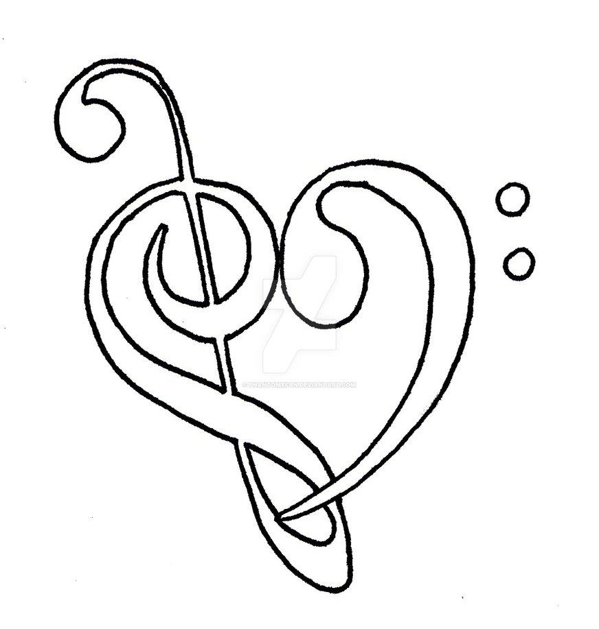 872x917 Music Heart By Phantomxfan