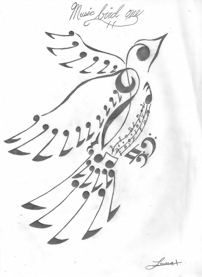 763x1048 Music Note Bird By Dametsuna21