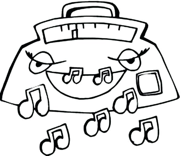600x516 Music Notes Coloring Pages Radio Expelling Music Notes Coloring