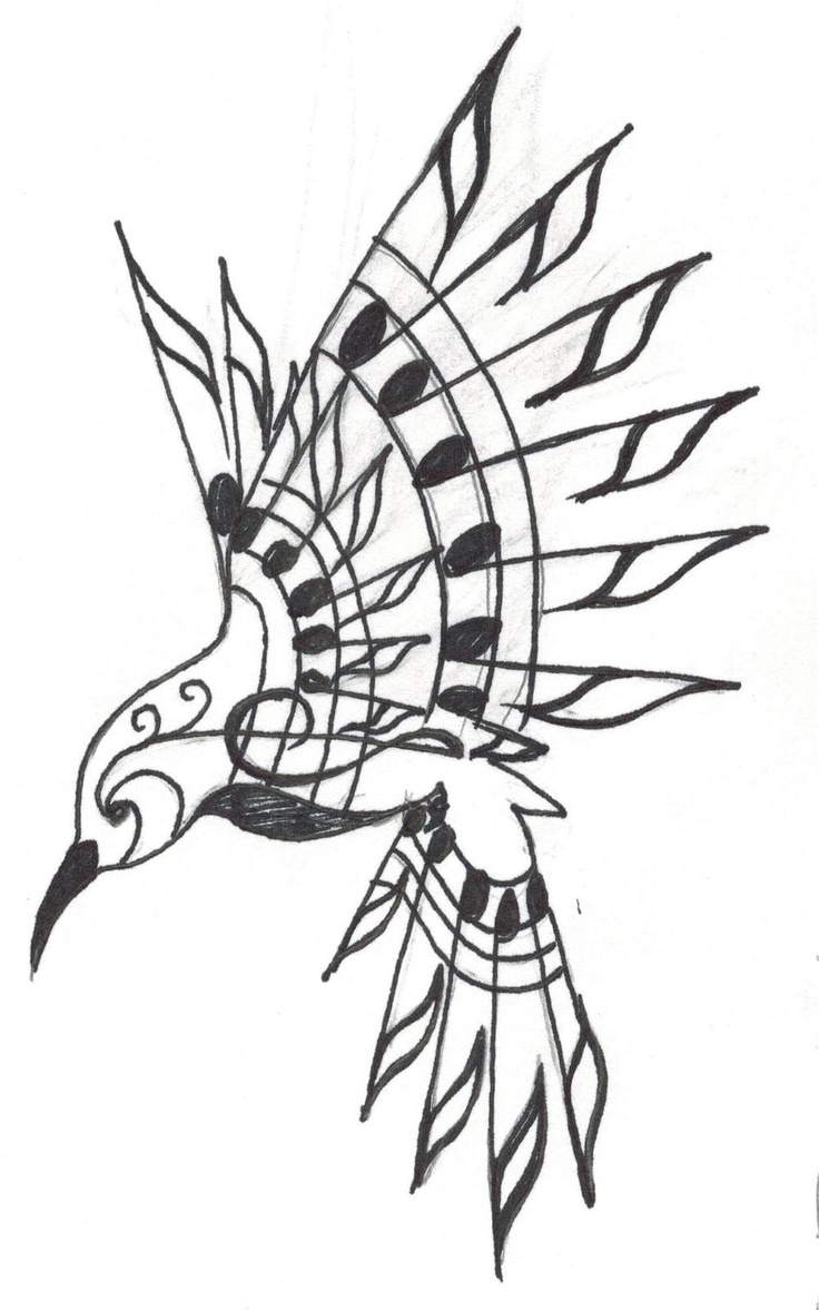 736x1177 A Hummingbird Made Out Of Musical Notes In Honor Of My Papaw