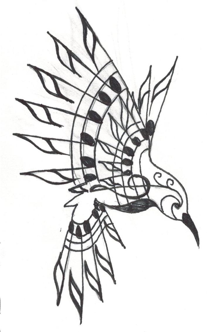 707x1131 Bird Music Tattoo