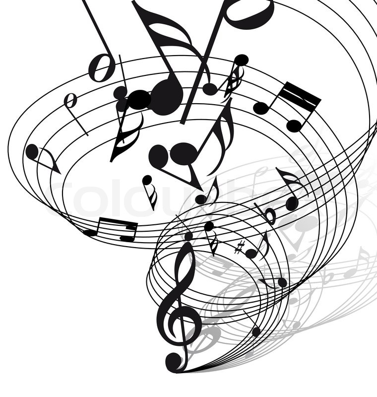 760x800 Vector Musical Notes Staff Background For Design Use Stock