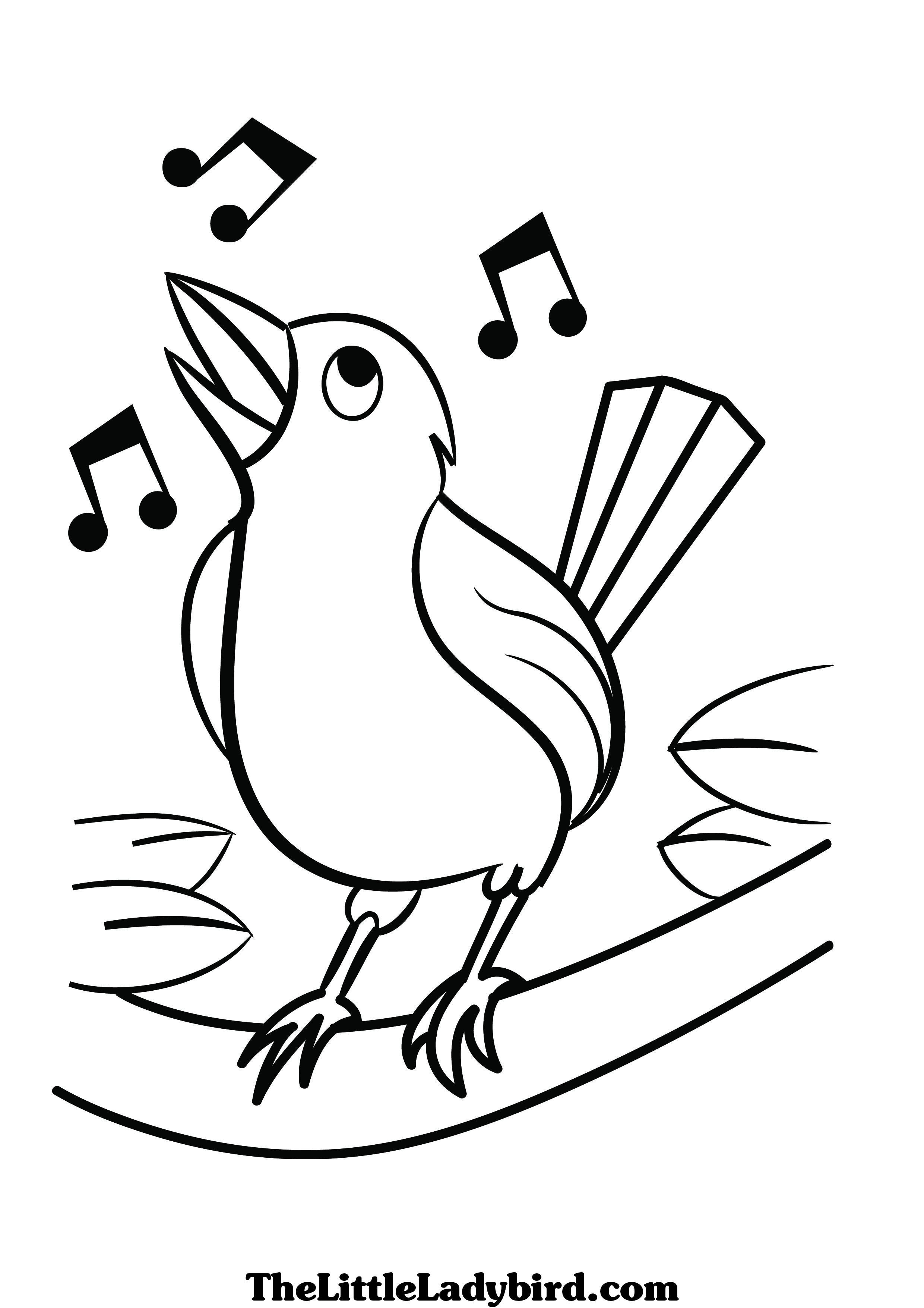 Music Note Bird Drawing at GetDrawings