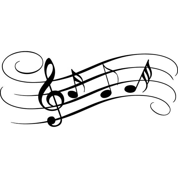 570x570 Sheet Music 2 Musical Note Symbol Treble Clef Classical Svg