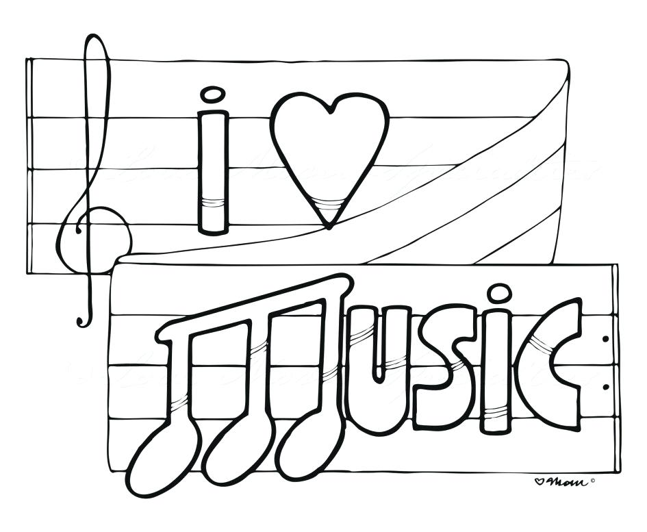 945x777 Coloring Pages Of Musical Notes Coloring Pages Of Musical Notes