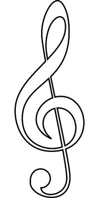 picture relating to Music Note Stencils Printable identified as New music Observe Emblem Drawing at  Absolutely free for