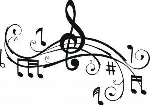 300x210 Graffiti Drawing Of Musical Notes Music Notes Graffiti Png Guitar