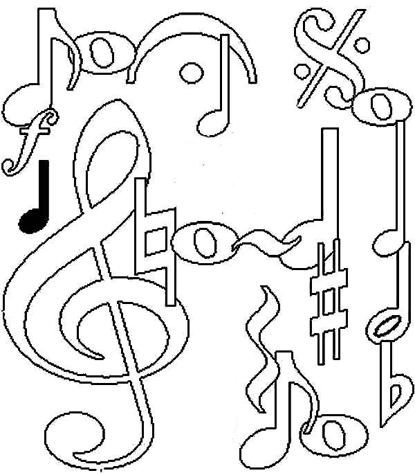 600x683 Coloring Pages Music Note Coloring Pages Notes Drawing Page