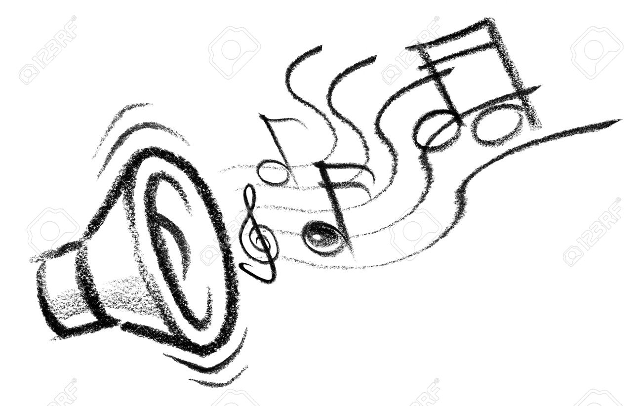 Abstract Wall Stickers Music Notes Line Drawing At Getdrawings Com Free For