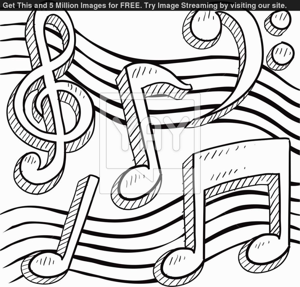 1024x979 In Coloring Pages Music Notes