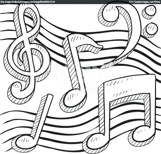 618x591 Music Notes Coloring Page Royalty Free Vector Of Music Notes