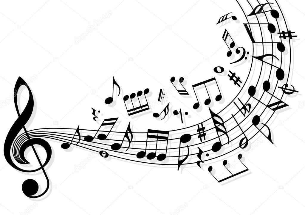 1023x723 Music Notes Stock Vector Dmitrydesign