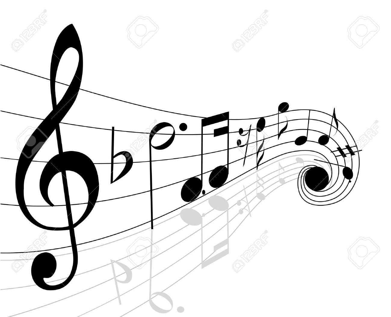 1300x1054 Musical Notes Royalty Free Cliparts, Vectors, And Stock