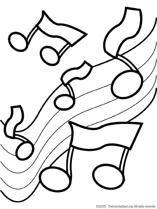 540x720 Note Coloring Pages Music Notes Coloring Pages Medium Size