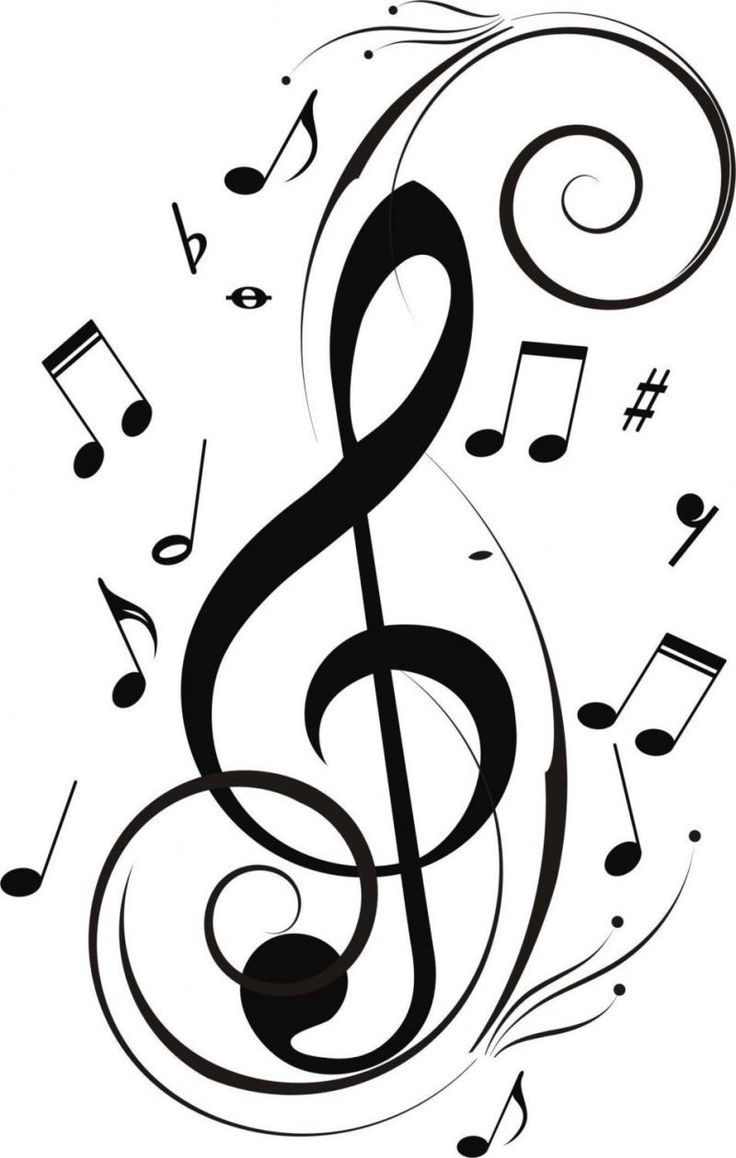 736x1158 Terrific Pictures Of Musical Notes Line Art Free Clip