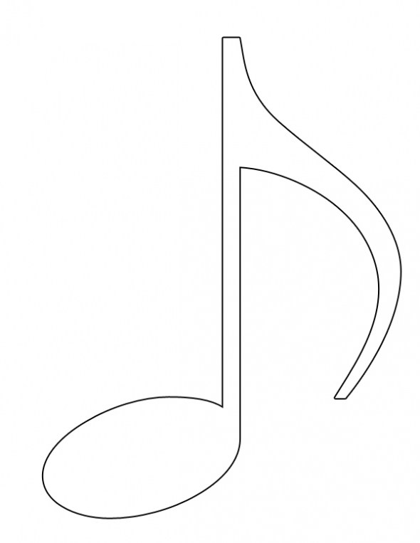 Music Notes Line Drawing at GetDrawings.com | Free for personal use ...
