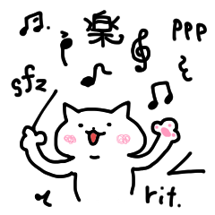 240x240 Music Sign Of The White Cat Line Stickers Line Store