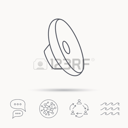 450x450 Sound Icon. Audio Speaker Sign. Music Symbol. Global Connect