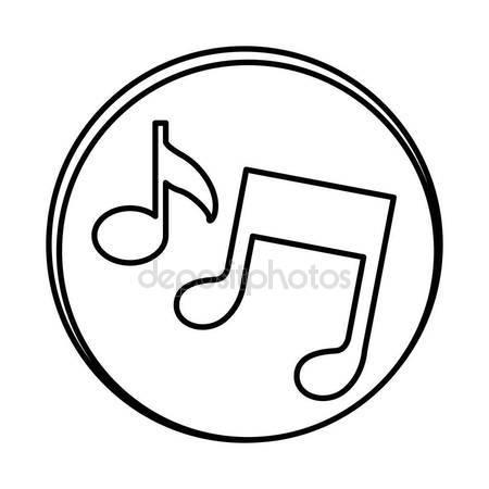 450x450 Silhouette Symbol Music Sign Icon Stock Vector Grgroupstock