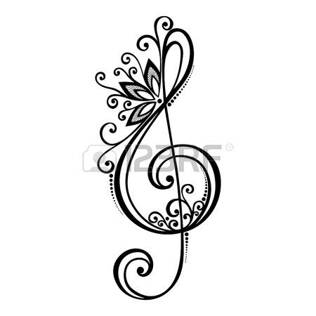 450x450 4,156 Music Tattoo Stock Vector Illustration And Royalty Free