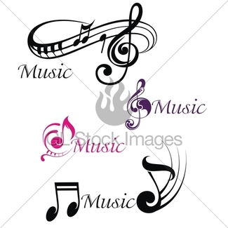 325x325 Music Notes, Signs Set. Hand Drawn Music Symbol Sketch Co Gl