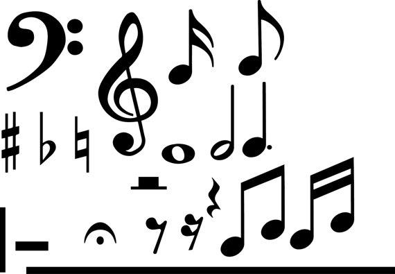 570x395 Music Symbols Svg Collection