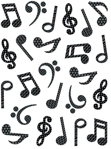 448x600 Music Symbols Stickers