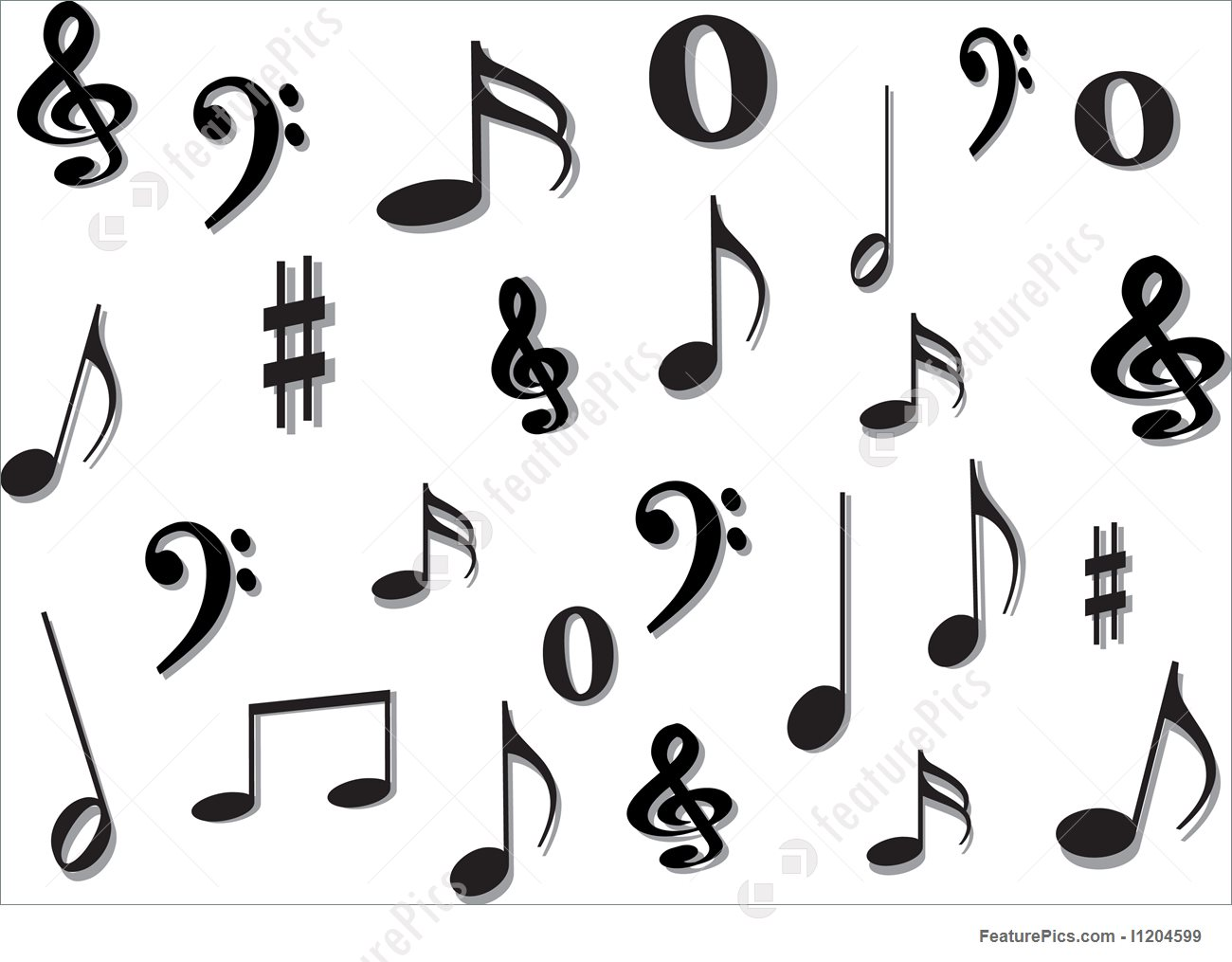 1300x1015 Musical Instruments Music Notes