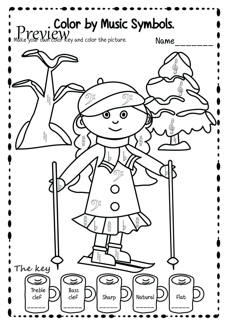 736x1043 Treble Clef Coloring Page Free Bass Clef Coloring Page Treble Clef