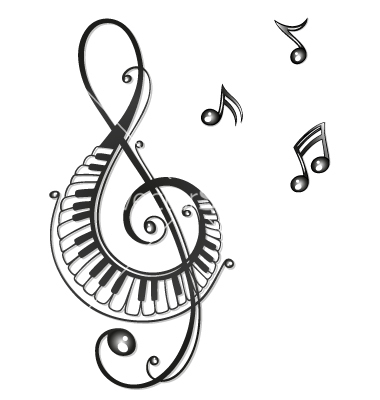 380x400 Clef Music Music Notes Vector Art
