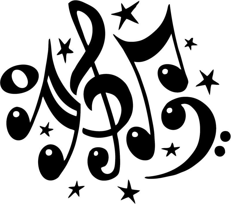 800x707 Music Notes Symbols Clip Art
