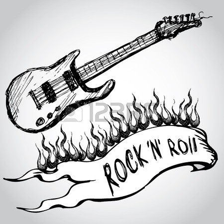 450x450 Drawing Guitar Stock Photos. Royalty Free Business Images
