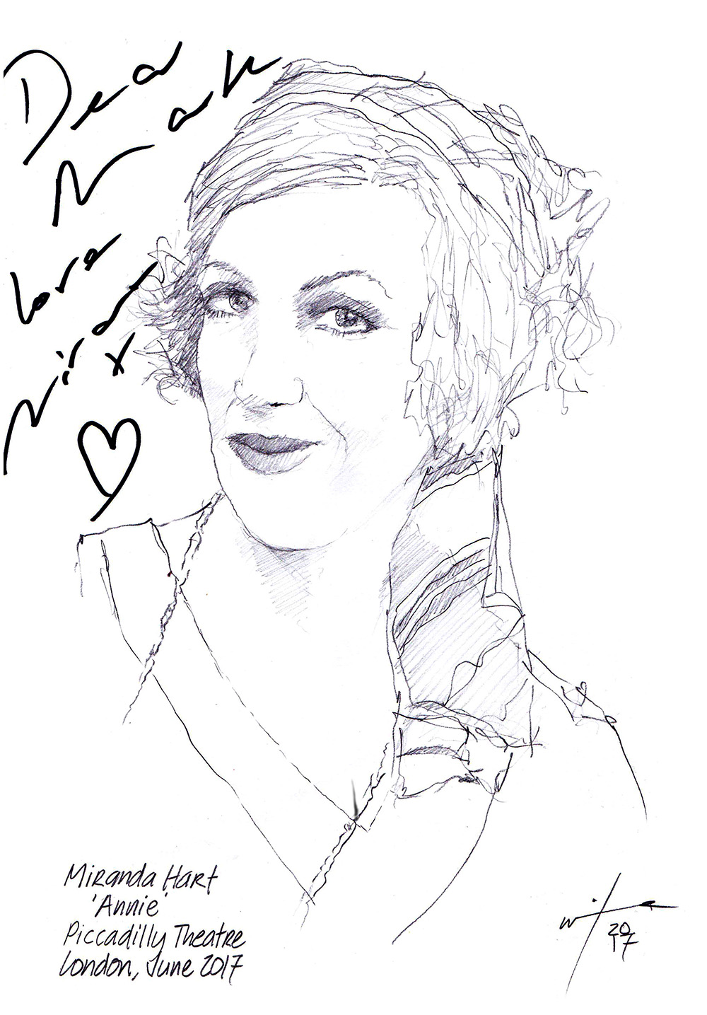 1000x1435 Drawing Miranda Hart In Annie Chicanepictures