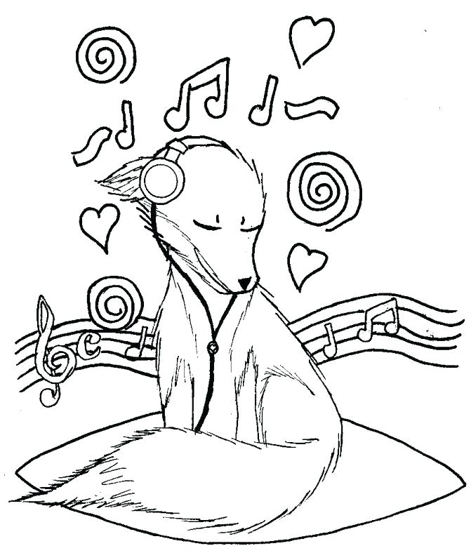 671x788 Music Notes Coloring Music Notes Drawing Coloring Page Music Notes