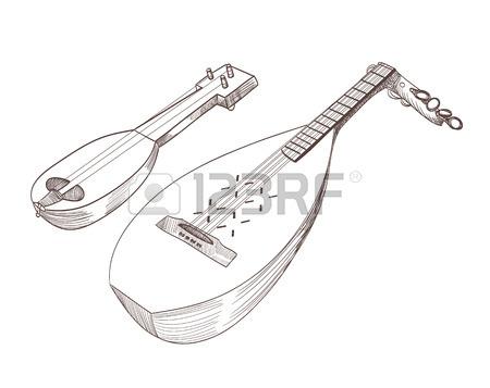 450x357 Cobza Musical Stringed Instruments Drawing Royalty Free Cliparts