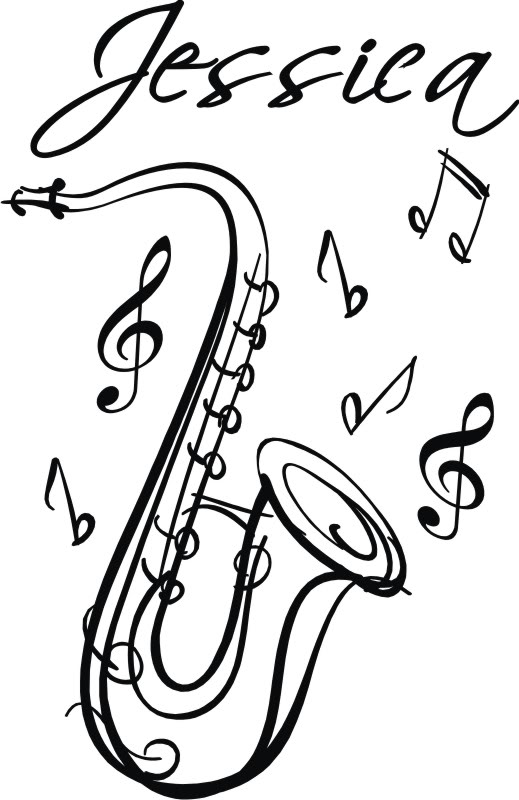 519x800 Drawn saxophone musical instrument