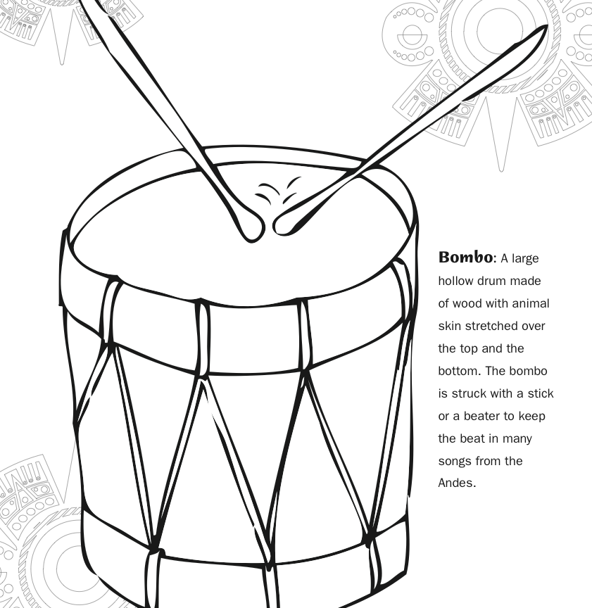 841x864 Harp Coloring Pages Musical Instruments Of Printable Free Kids