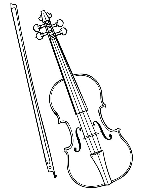 600x776 Instrument Coloring Pages Musical Instruments Violin Is A Musical