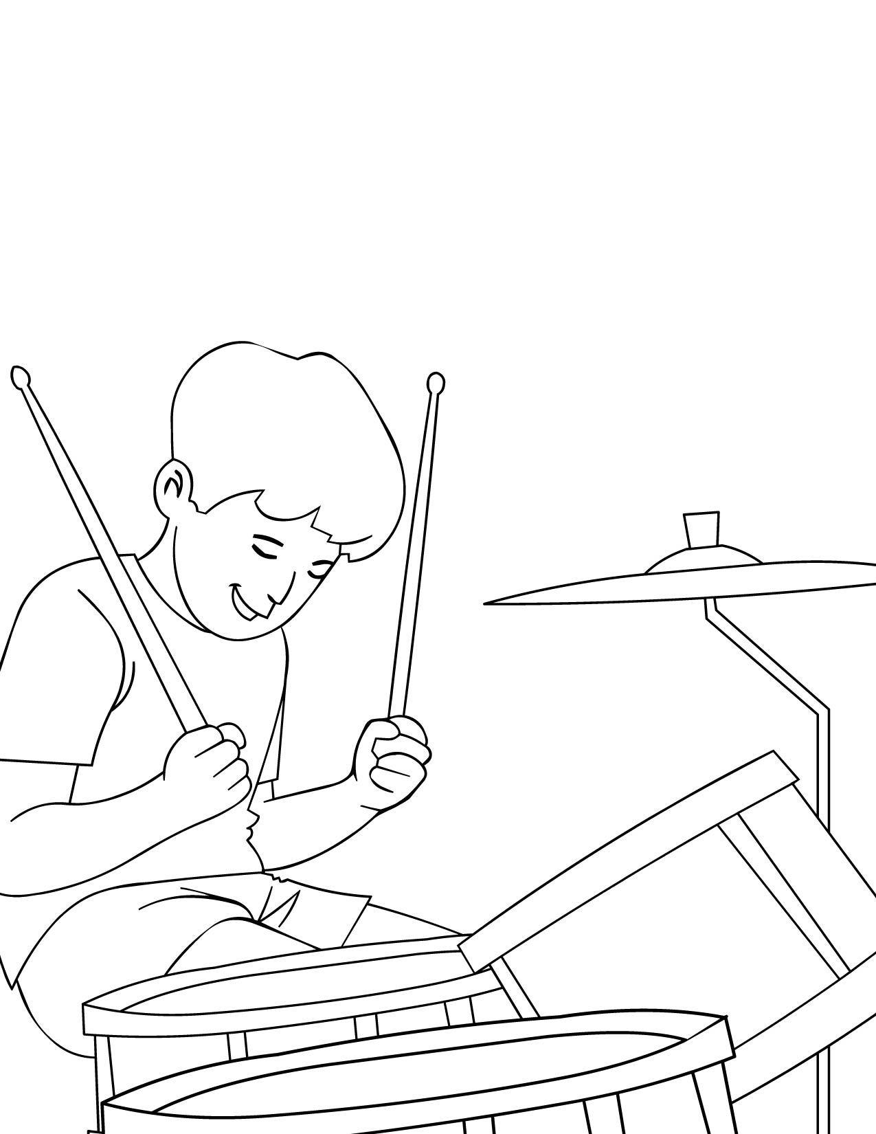 1275x1650 Musical Instruments Coloring Pages