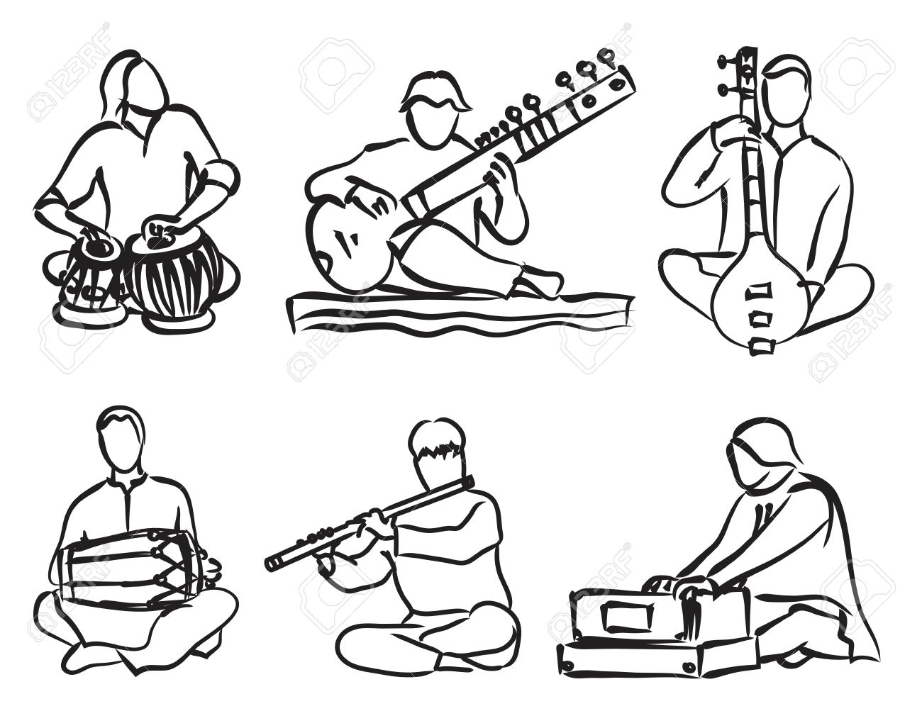 1300x1003 Classical Music Instruments Clipart