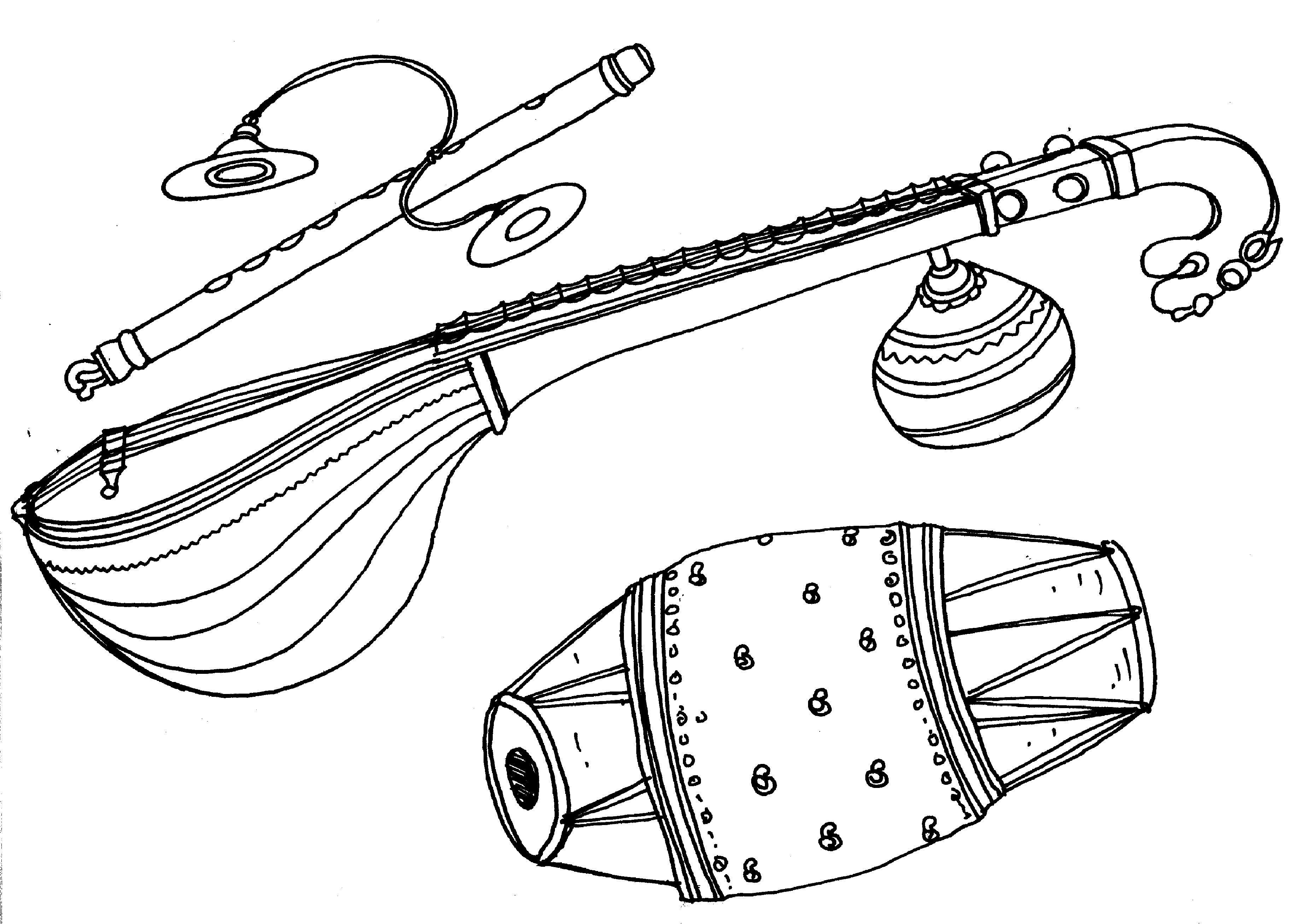 3706x2615 Drawing Of Musical Instruments Draw Musical Instruments Part 1 By