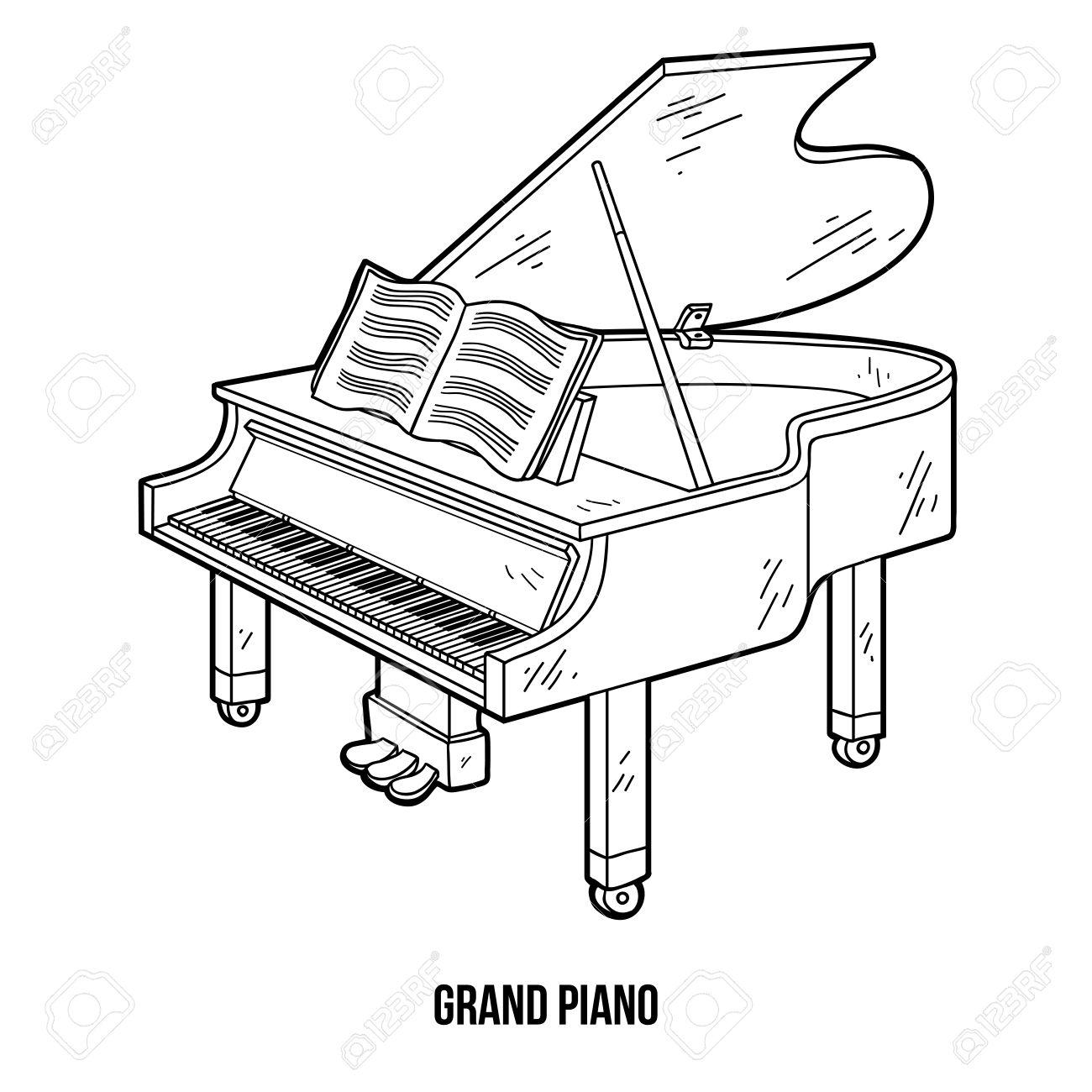 Musical Keyboard Drawing at GetDrawings | Free download