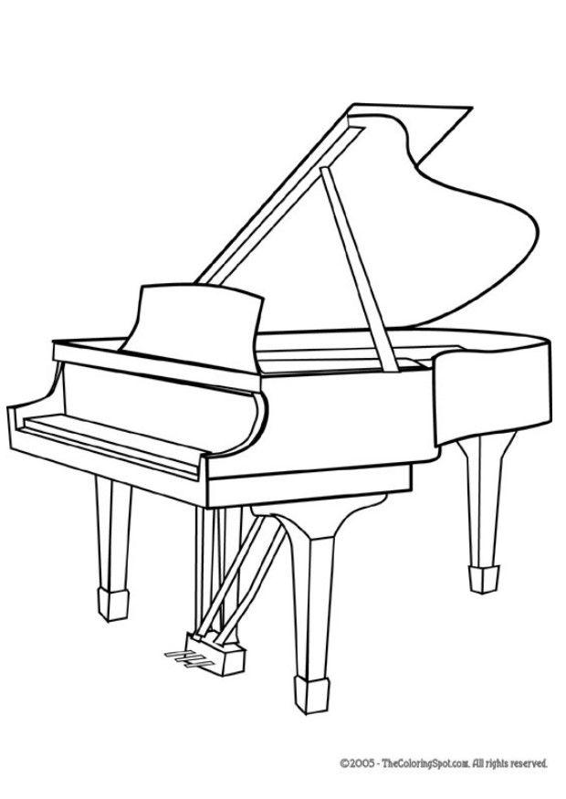620x875 Coloring Page Grand Piano