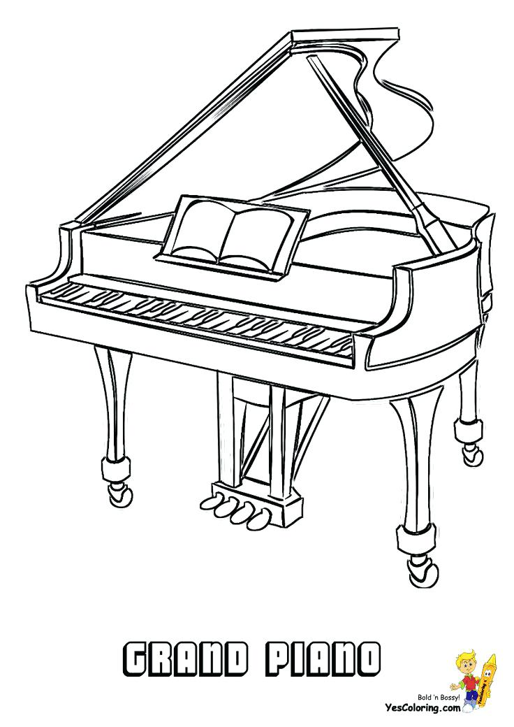 736x1040 Musical Instrument Coloring Pages Real Piano Musical Instrument