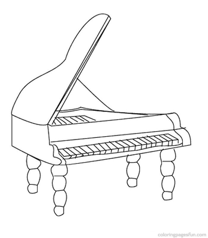 700x800 Musical Instruments Coloring Pages 50 Jazz Musical
